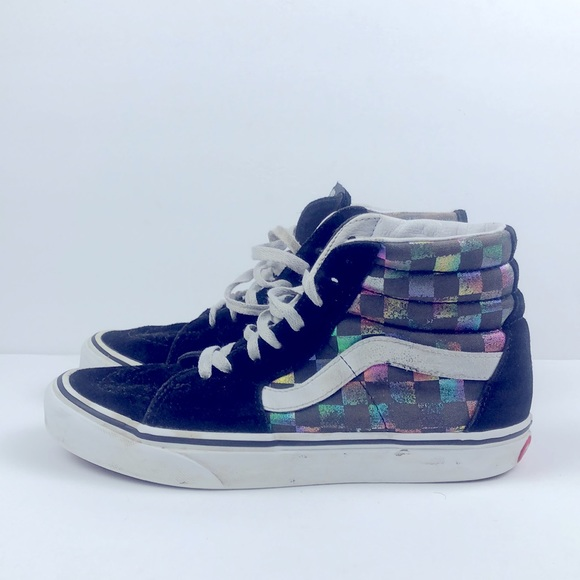 Women Vans High Checkered Shoes Size 6.5